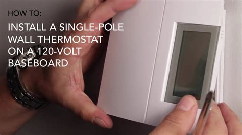 how to install wall thermostat single pole on 120v baseboard cadet heat
