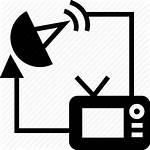 Tv Icon Antenna Satellite Broadcasting Network Icons