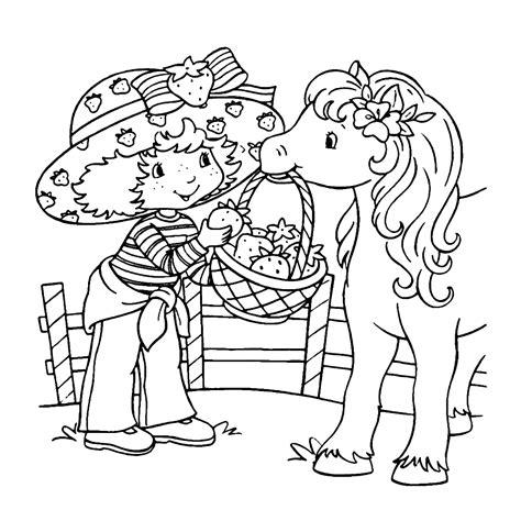 Kleurplaat Een Paar Meiden Starbery Schortcake by Strawberry Shortcake Kleurplaten Kleurplatenpagina Nl