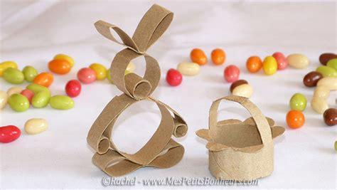 panier et lapin paques bricolage r 233 cup en rouleau de bricolages en rouleau de papier