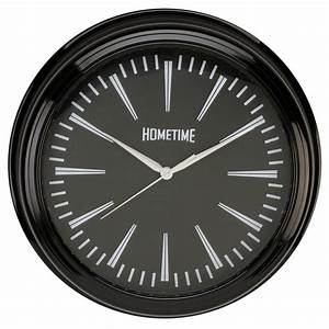 HOMETIME WALL CLOCK WITH BLACK CASE 36 CMS DIAMETER ...