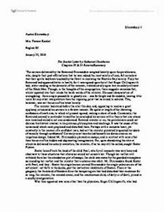 the scarlet letter essay thesis template