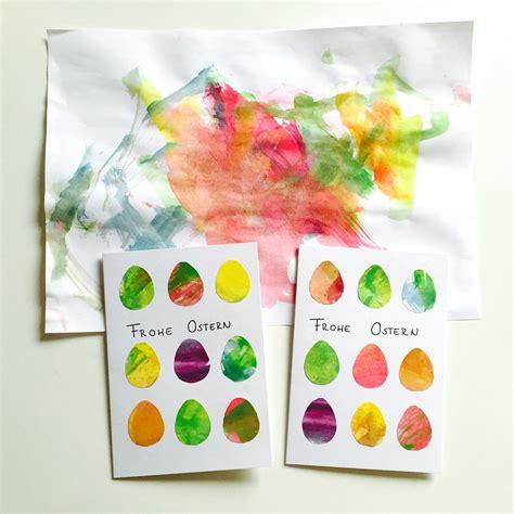 einfaches basteln mit kindern kinderkunst zu osterkarte einfaches basteln mit kindern zu ostern ostern karten