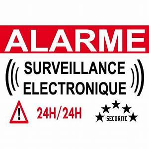 Video Surveillance Maison : panneau de dissuasion alarme vid o surveillance achat ~ Premium-room.com Idées de Décoration
