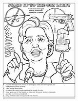 Coloring Clinton Hillary Pages Violent Comic Books Discounts Template Popular Coloringbook sketch template