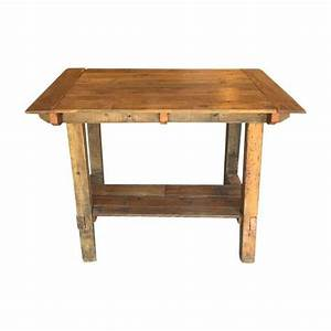 Pub Height Reclaimed Wood Table on Chairish com bar or