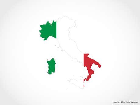 vector map  italy flag  vector maps