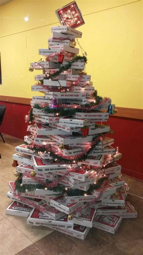 pizza box christmas tree christmas pinterest trees