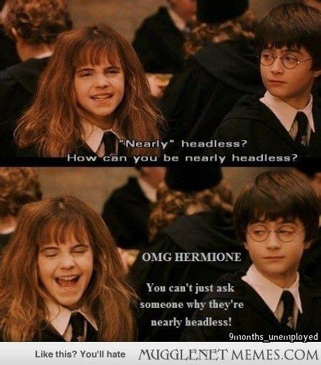 Hermione Granger Memes - mugglenet memes harry potter memes and funny pics harry potter