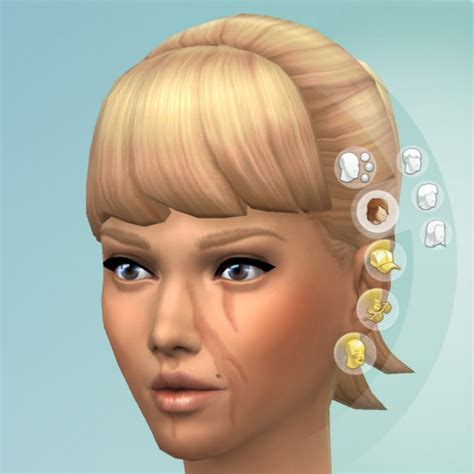 Mod The Sims Facial Scars By Kisafayd Sims 4 Downloads