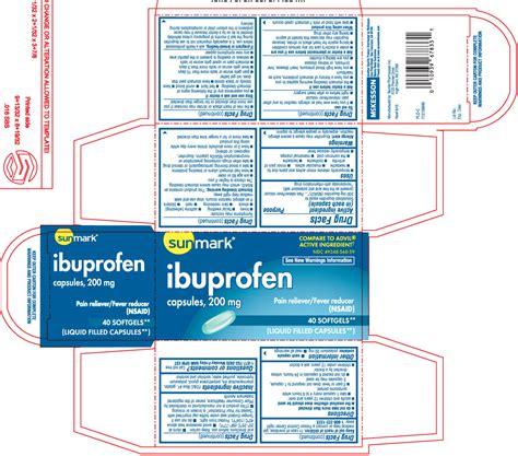 Dailymed Ibuprofen Ibuprofen Capsule Liquid Filled