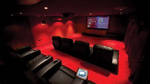 Amazing Rouge Chic Home Cinema in Cheshire Installation