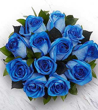 extreme blue hues fiesta rose bouquet  stems