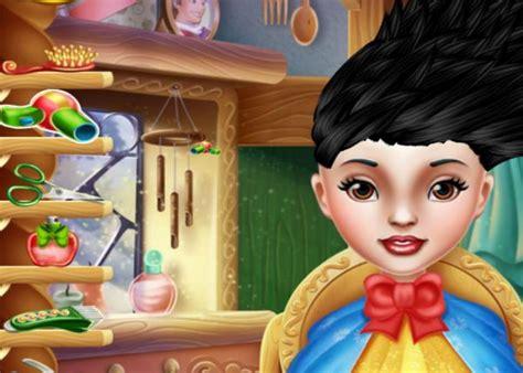 coiffure de folie blanche neige sur jeux fille gratuit