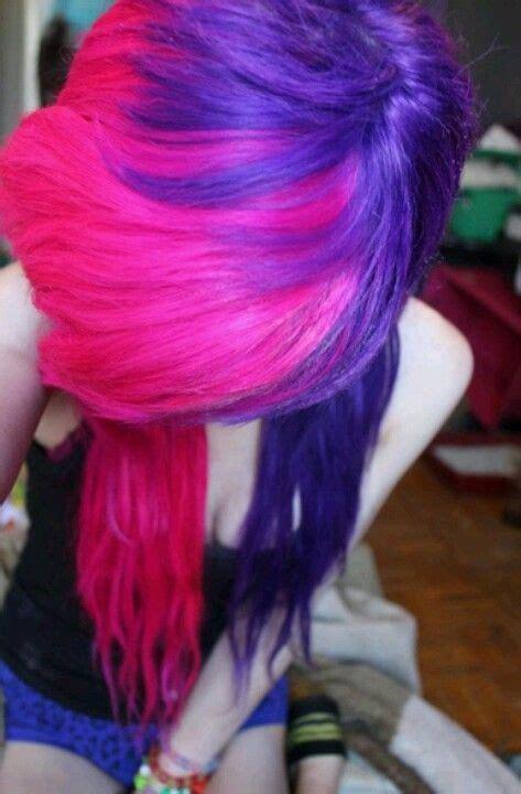 Purple And Pink C Alternative Hair Hair Scene Hair