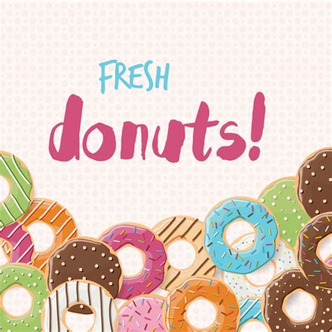 Doughnut Background Coloured Donuts Background Vector Free