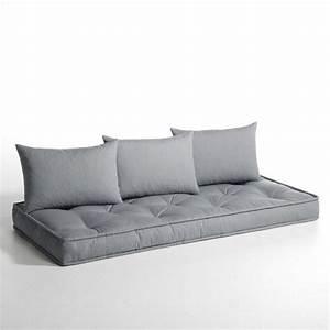 a poser sur palettes matelas et coussins pour banquette With canapé 3 places pour deco a poser