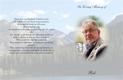 personalized memorial funeral cards crowfoot print