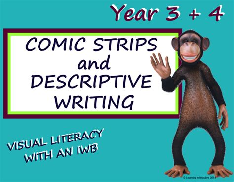 visual literacy comic strips writing year 3 4