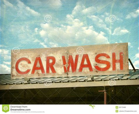 car wash sign royalty  stock image image