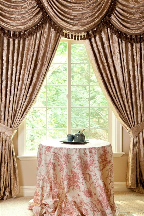 curtains valances and swags classic overlapping swag valances curtain drapes baroque