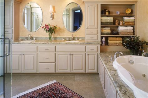 custom bathroom cabinets curved face sinks  level