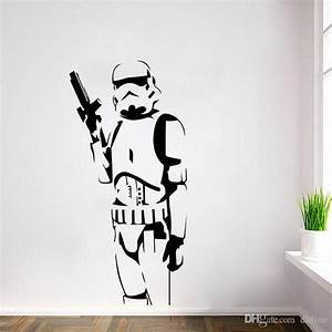 star wars wall stickers stormtrooper with gun home decor With star wars decals for walls near me