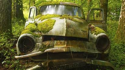 Abandoned Moss Covered Wallpapers France Vehicle Cars