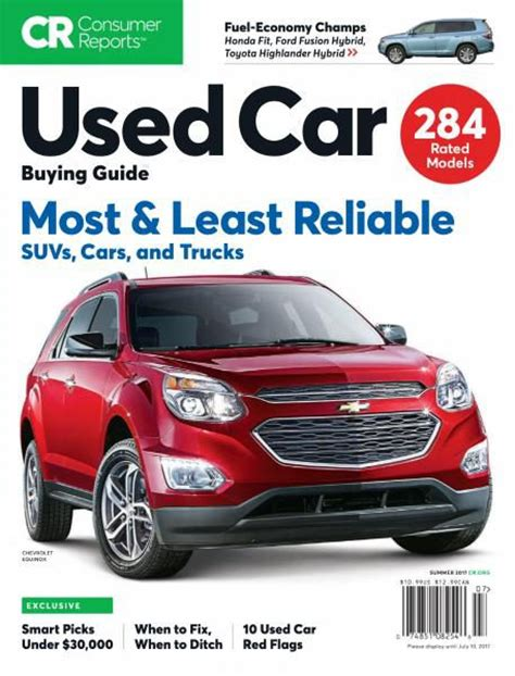 Consumer Reports Car Buying by Consumer Reports Used Car Buying Guide July 2017 Pdf