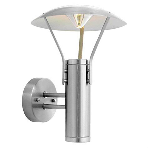 eglo roofus 2 light stainless steel outdoor wall mount