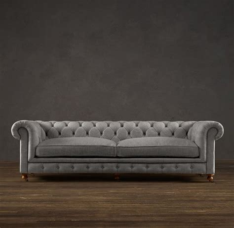 who makes restoration hardware sofas 98 quot kensington upholstered sofa i would be all over that