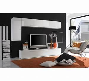 Meuble Tele Moderne : meuble tele laque blanc moderne 3164 ~ Teatrodelosmanantiales.com Idées de Décoration