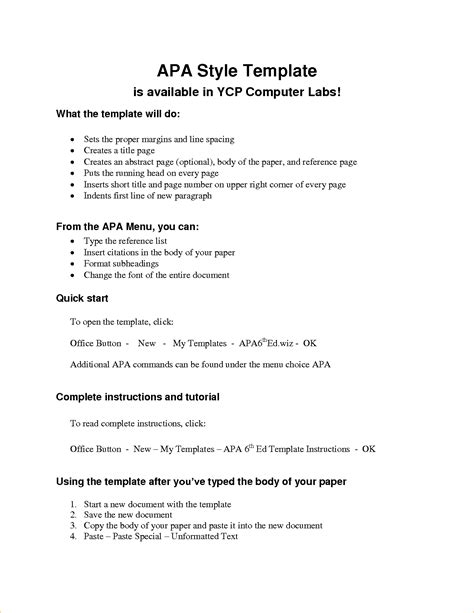 Paper Outline Template 8 Research Paper Outline Template Apa Outline Templates