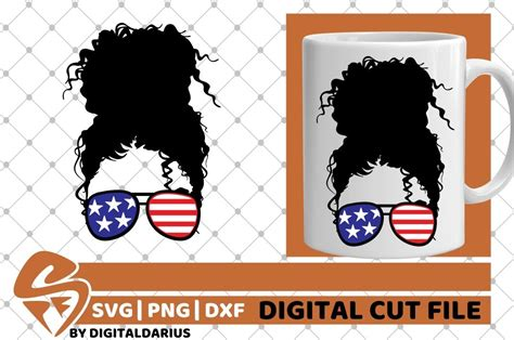Are you searching for messy bun png images or vector? Messy Bun svg, Sunglasses, 4th of July, Patriotic, America ...