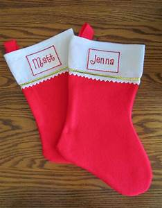 embroidered iron on name label for christmas stockings With iron on letters for christmas stockings