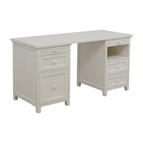 pottery barn white desk 74 off pottery barn pottery barn off white four drawer