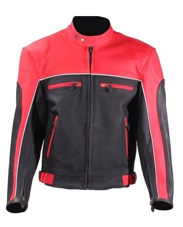 red leather motorcycle jacket mens black and red vented leather motorcycle jacket