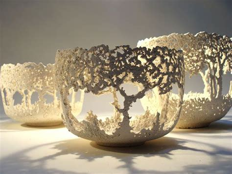 ceramics  barry guppy  tree bowls organic