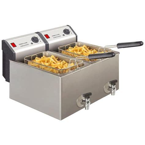 cuisine professionnelle inox bartscher friteuse electrique pro 2 cuves de 8 litres
