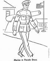 Coloring Pages Army Marine sketch template
