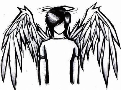 Emo Anime Drawings Easy Angel Boy Drawing