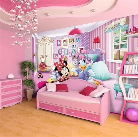 giant size wallpaper mural for girl s room minnie mouse