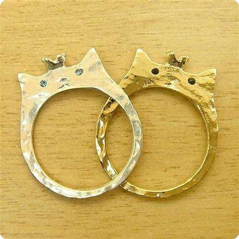 feline wedding rings cat shaped wedding ring