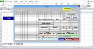 Excel Rechnung Mit Kundendatenbank : 1 zeiterfassungsprogramm in excel selber erstellen excel arbeitsmappe mit makros erstellen ~ Themetempest.com Abrechnung