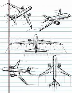 airplane sketch illustration - Google Search | skin decor ...