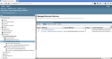 glassfish admin console java ee 7 concurrency utilities kodedu