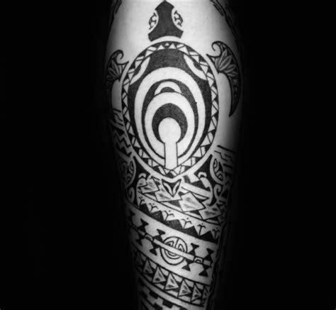 tribal turtle tattoo designs  men manly ink ideas