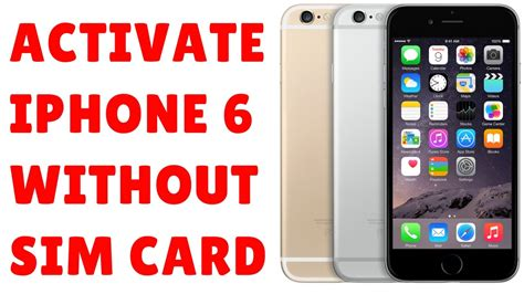 how to activate iphone without sim how to activate iphone 6 without sim card using itunes