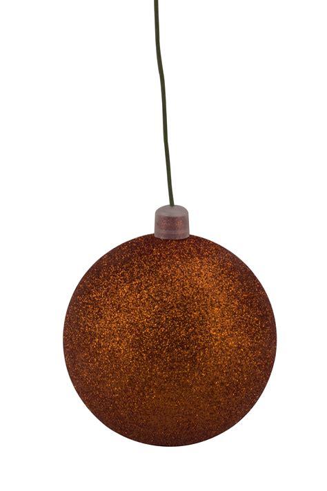 winterland inc glitter ball ornaments 120mm 5 quot orange glitter ornament with wire