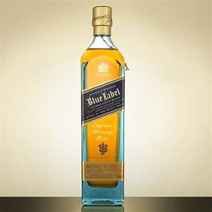 Johnnie walker blue label engraved blended scotch whisky for Blue label engraved
